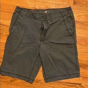 "Old Navy charcoal khaki shorts. 32W 10"" inseam"